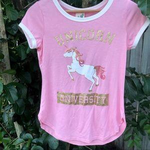 Lily Bleu Unicorn Shirt  NWT Pink Girls Top
